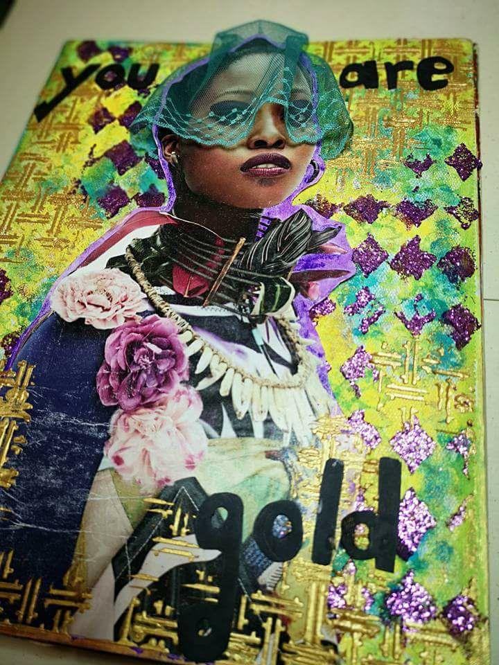 Vot provocare Art Journaling - Cinci elemente (Mihaela Deioni) Monica30