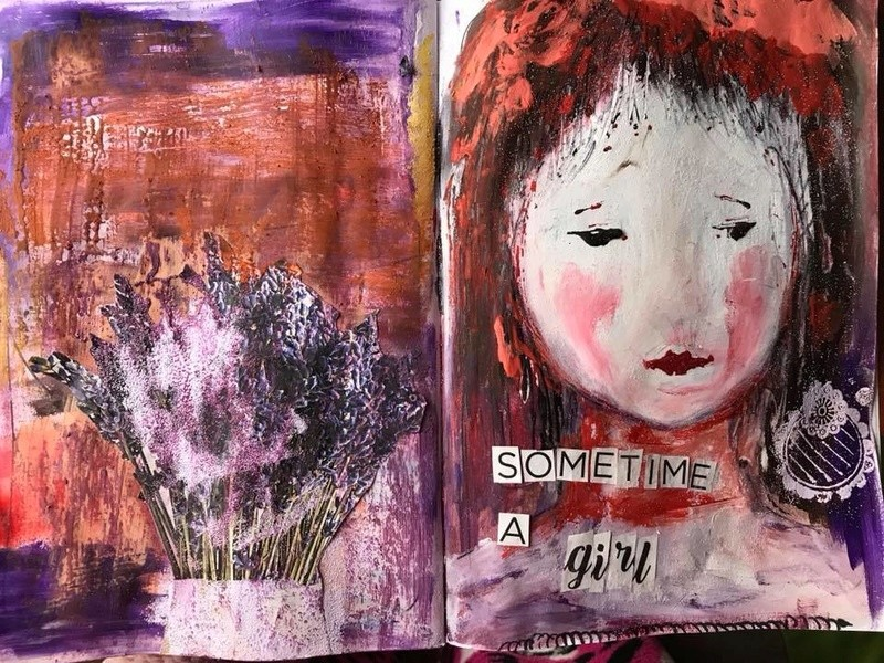 Provocare Art Journaling noiembrie: Girl face - Mihaela & Andreea Elena_10