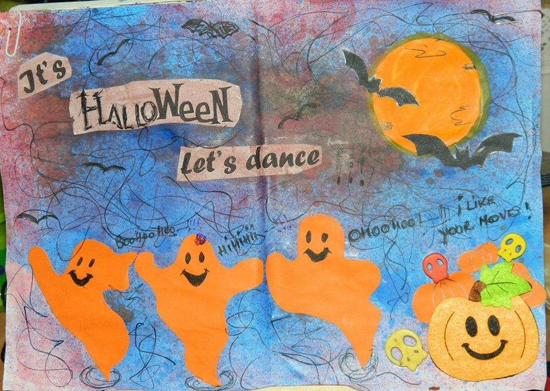 Provocare Art Journaling octombrie: Halloween page - Andreea Ileana11