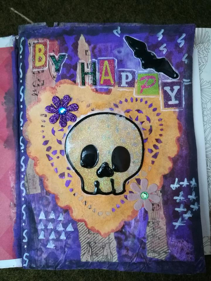 Provocare Art Journaling octombrie: Halloween page - Andreea Mihael11