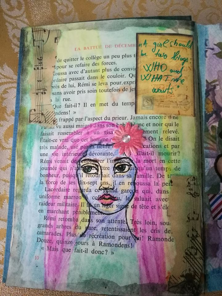 Provocare Art Journaling noiembrie: Girl face - Mihaela & Andreea Mihael17