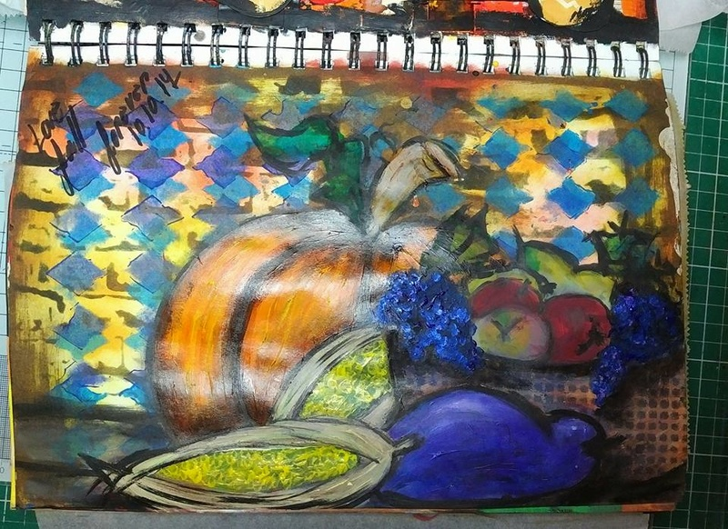 Provocare Art Journaling octombrie: Halloween page - Andreea Monica12