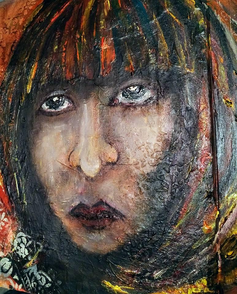 Provocare Art Journaling noiembrie: Girl face - Mihaela & Andreea Monica18