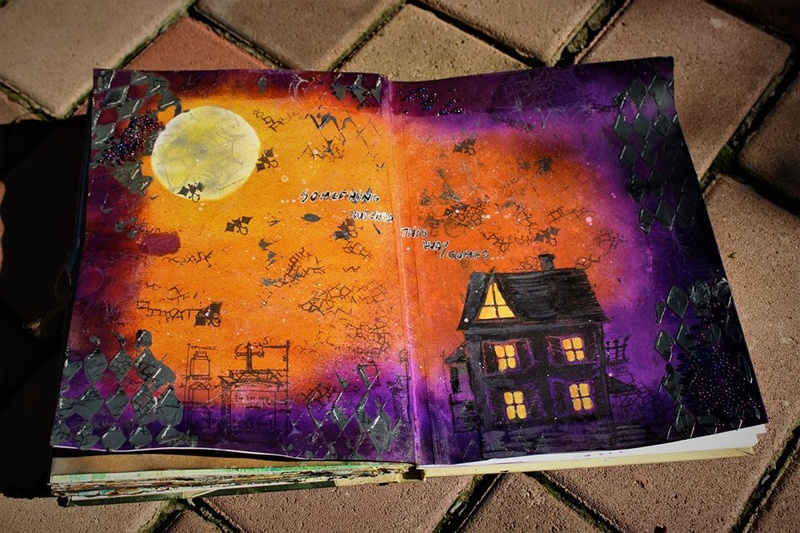 Provocare Art Journaling octombrie: Halloween page - Andreea Z210