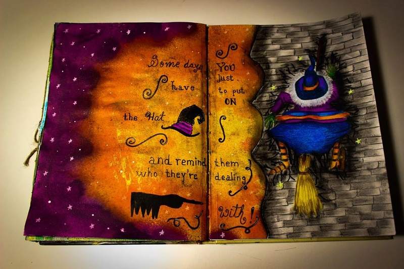 Provocare Art Journaling octombrie: Halloween page - Andreea Z_110