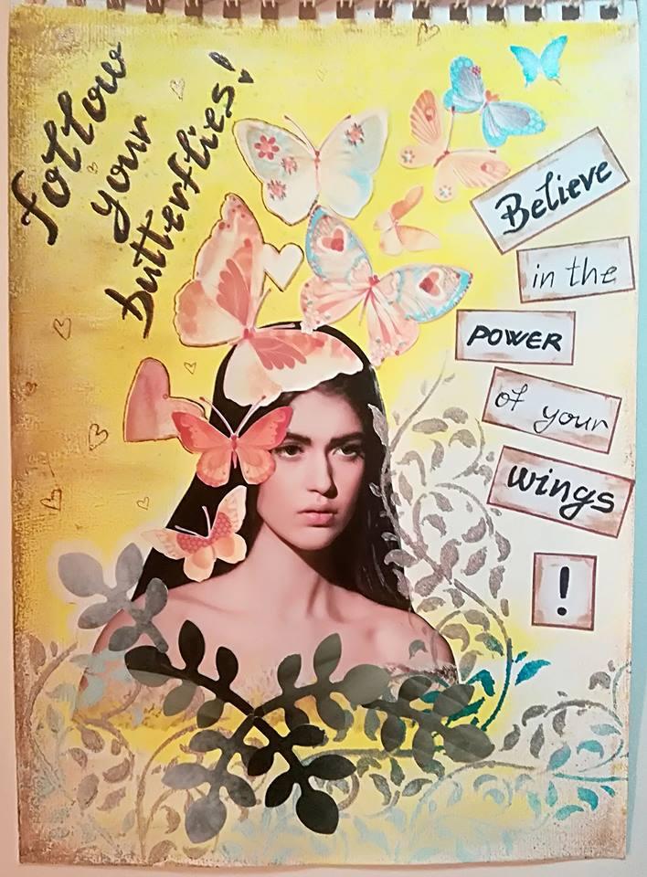 Provocare artjournaling - Take 5 Carmen10
