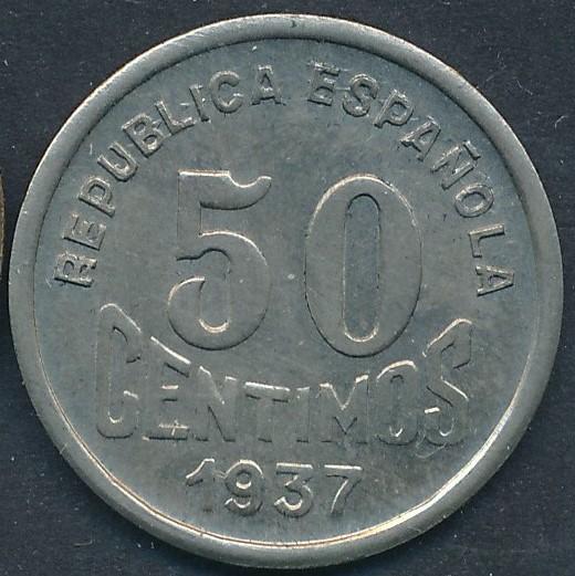 50 céntimos 1937. Consejo de Asturias y León. Guerra Civil - Página 2 110