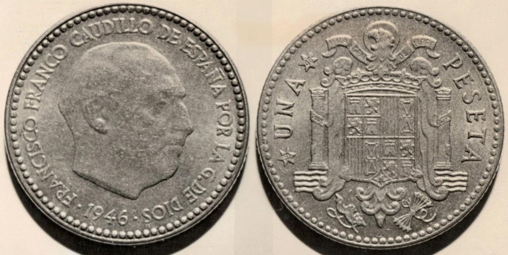 1 peseta 1946. Estado Español. ¿Prueba de circulación? - Página 17 555510