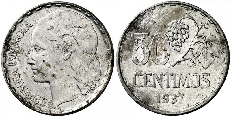 1 Peseta 1937 II República ¿Variante? Aa10