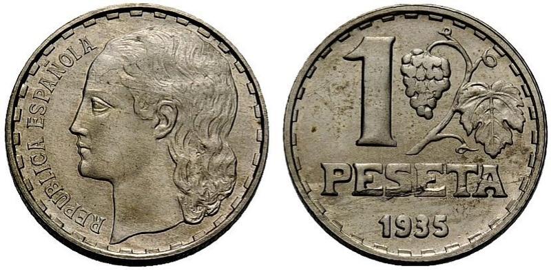 1 Peseta 1937 II República ¿Variante? Cc10