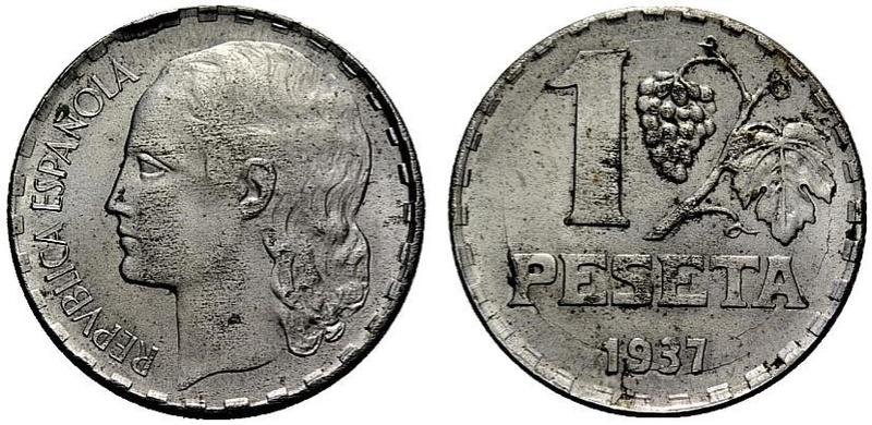 1 Peseta 1937 II República ¿Variante? Ccc10
