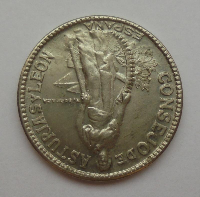 2 pesetas 1937. Consejo Asturias y León. Guerra Civil. Emisión Local Dsc07711