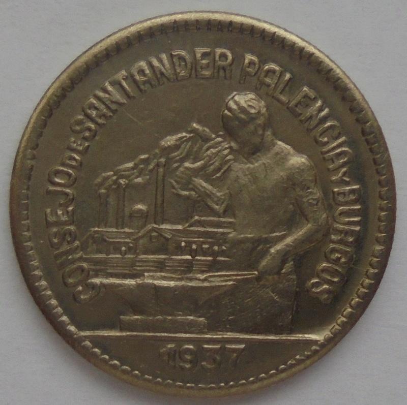50 céntimos 1937 Consejo Santander, Palencia y Burgos. Guerra Civil Dsc09210