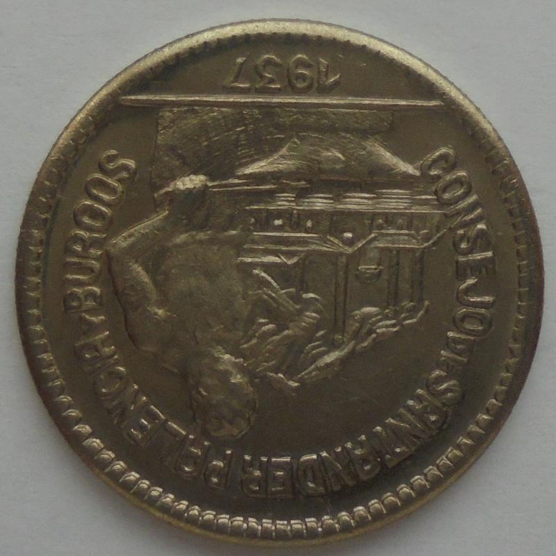 50 céntimos 1937 Consejo Santander, Palencia y Burgos. Guerra Civil Dsc09212