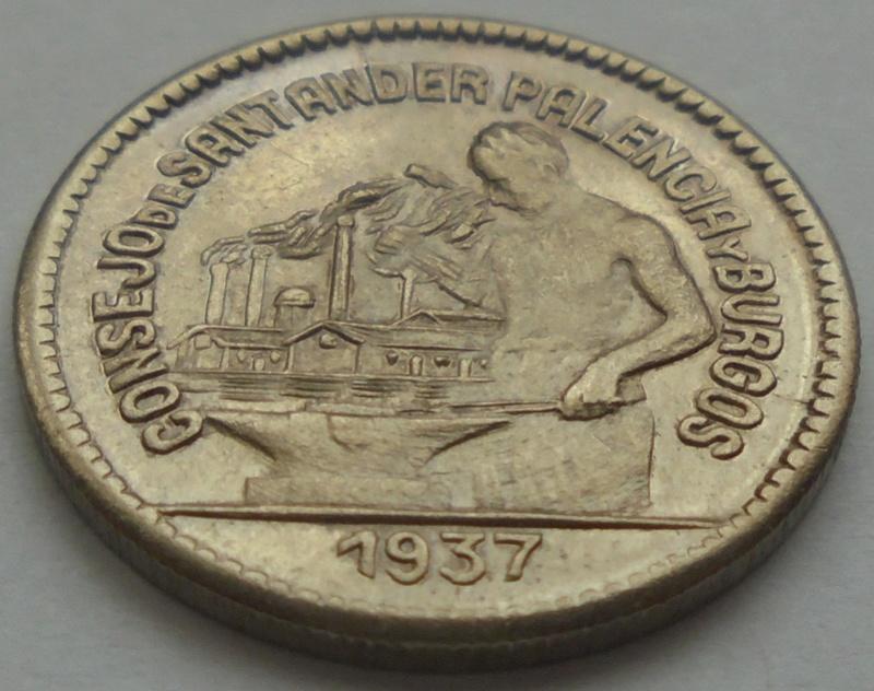 50 céntimos 1937 Consejo Santander, Palencia y Burgos. Guerra Civil Dsc09214
