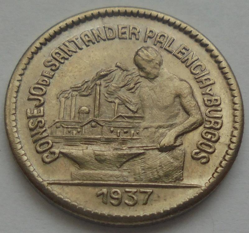 50 céntimos 1937 Consejo Santander, Palencia y Burgos. Guerra Civil Dsc09216