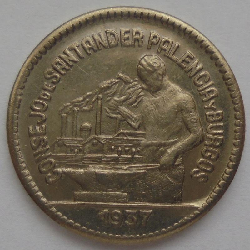 50 céntimos 1937 Consejo Santander, Palencia y Burgos. Guerra Civil Dsc09218