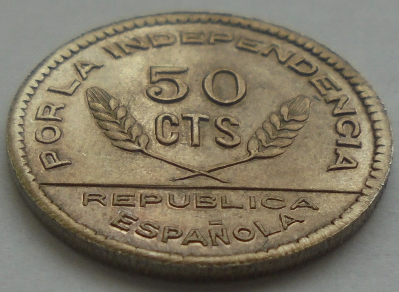 50 céntimos 1937 Consejo Santander, Palencia y Burgos. Guerra Civil Dsc09219