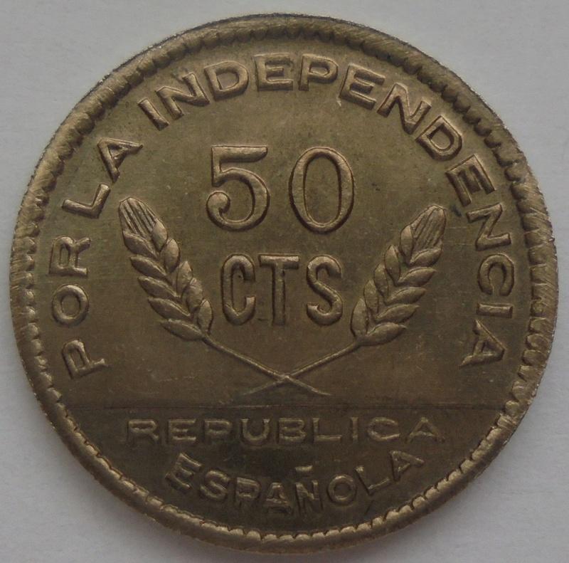 50 céntimos 1937 Consejo Santander, Palencia y Burgos. Guerra Civil Dsc09222