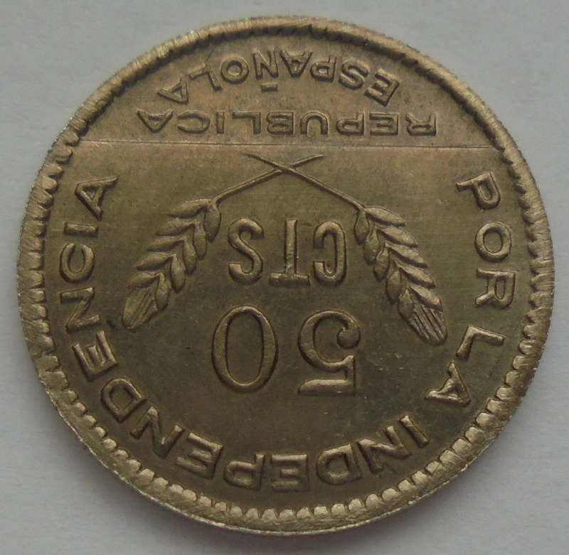 50 céntimos 1937 Consejo Santander, Palencia y Burgos. Guerra Civil Dsc09311