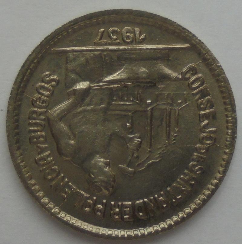 50 céntimos 1937. PJR. Consejo Santander, Palencia y Burgos. Guerra Civil Dsc09313