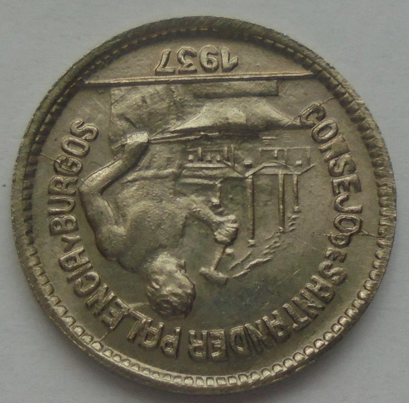 50 céntimos 1937. PJR. Consejo Santander, Palencia y Burgos. Guerra Civil Dsc09314
