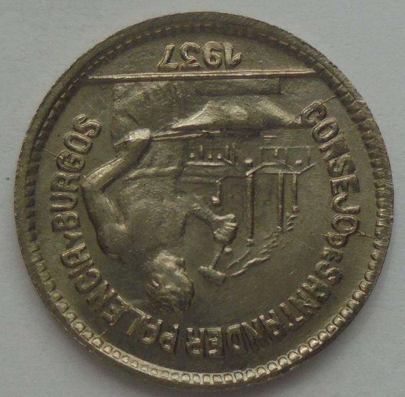 50 céntimos 1937. PJR. Consejo Santander, Palencia y Burgos. Guerra Civil Dsc09315