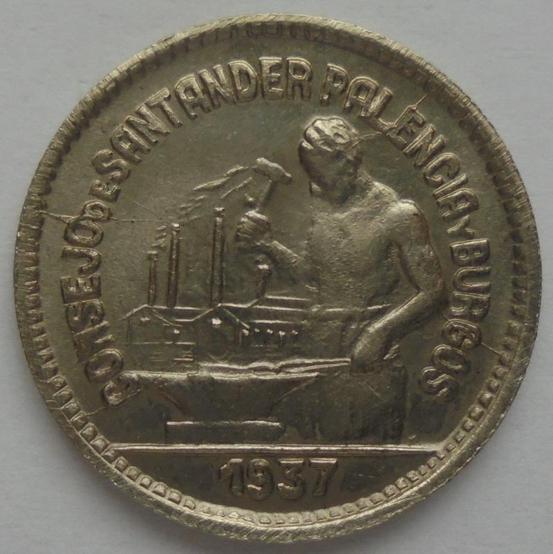 50 céntimos 1937. PJR. Consejo Santander, Palencia y Burgos. Guerra Civil Dsc09317