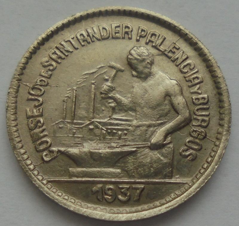 50 céntimos 1937. PJR. Consejo Santander, Palencia y Burgos. Guerra Civil Dsc09320