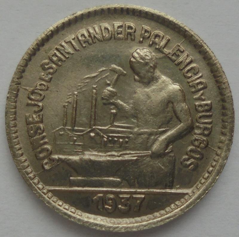 50 céntimos 1937. PJR. Consejo Santander, Palencia y Burgos. Guerra Civil Dsc09322