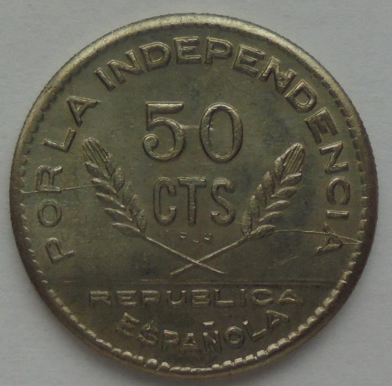 50 céntimos 1937. PJR. Consejo Santander, Palencia y Burgos. Guerra Civil Dsc09323