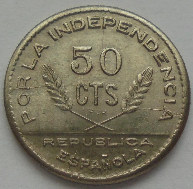 50 céntimos 1937. PJR. Consejo Santander, Palencia y Burgos. Guerra Civil Dsc09324