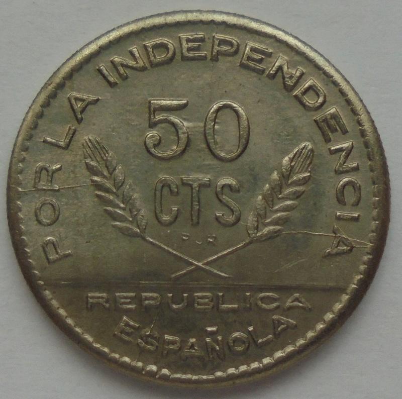 50 céntimos 1937. PJR. Consejo Santander, Palencia y Burgos. Guerra Civil Dsc09325