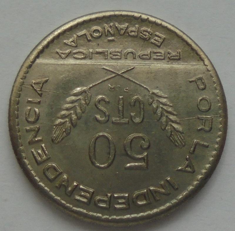 50 céntimos 1937. PJR. Consejo Santander, Palencia y Burgos. Guerra Civil Dsc09410