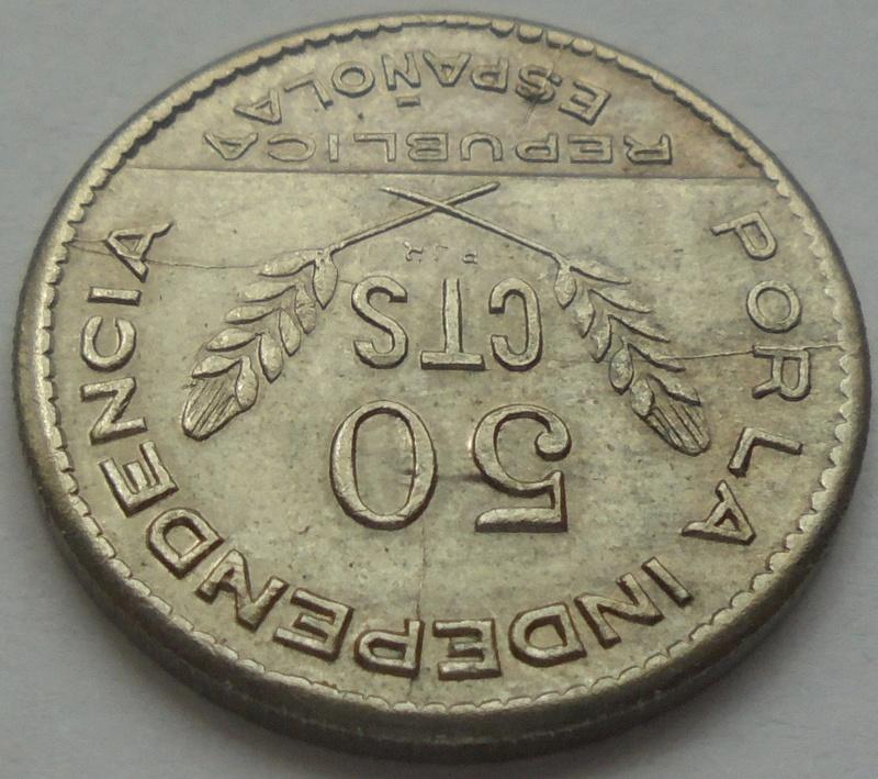 50 céntimos 1937. PJR. Consejo Santander, Palencia y Burgos. Guerra Civil Dsc09411