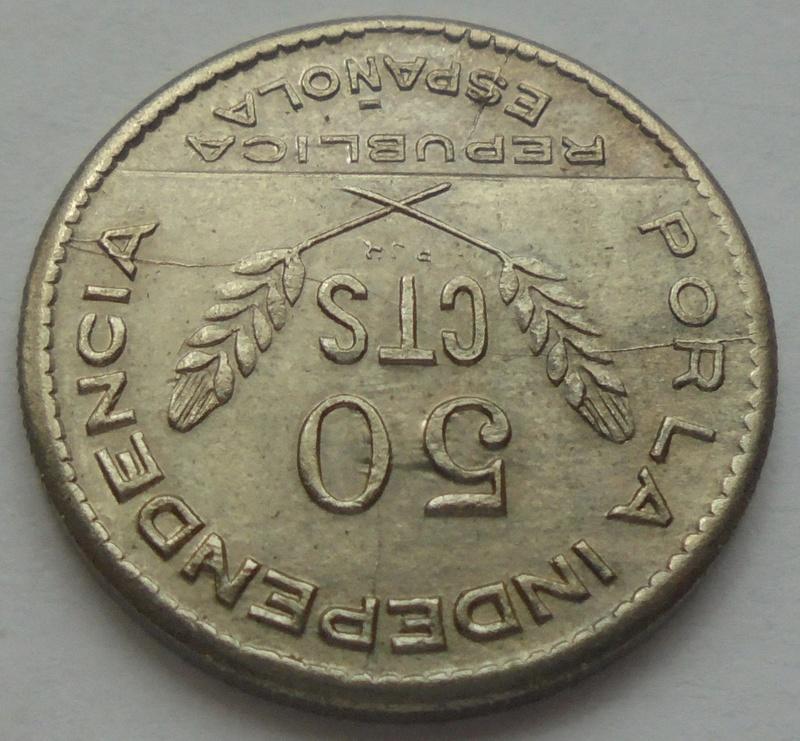 50 céntimos 1937. PJR. Consejo Santander, Palencia y Burgos. Guerra Civil Dsc09413