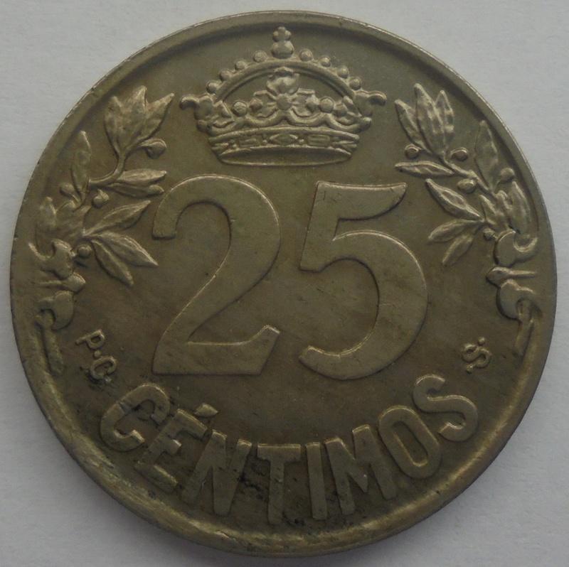 1925 - 25 Centimos 1925 Alfonso XIII OPINION/AYUDA Dsc09512