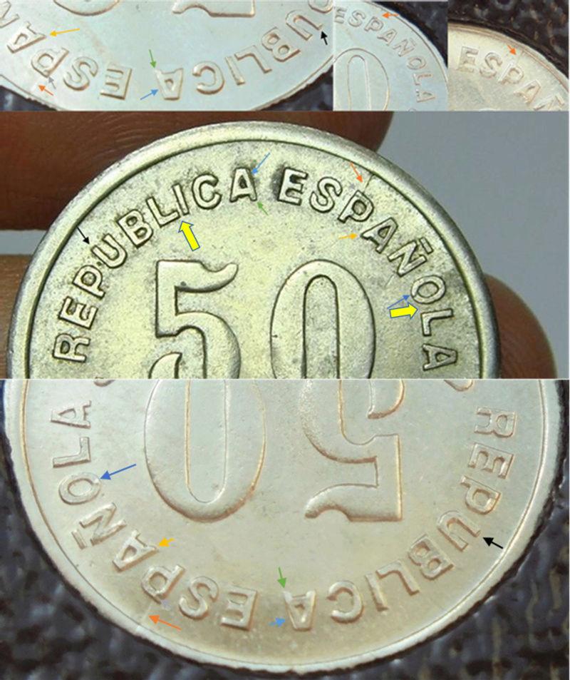 50 céntimos 1937. Consejo de Asturias y León. Guerra Civil F11