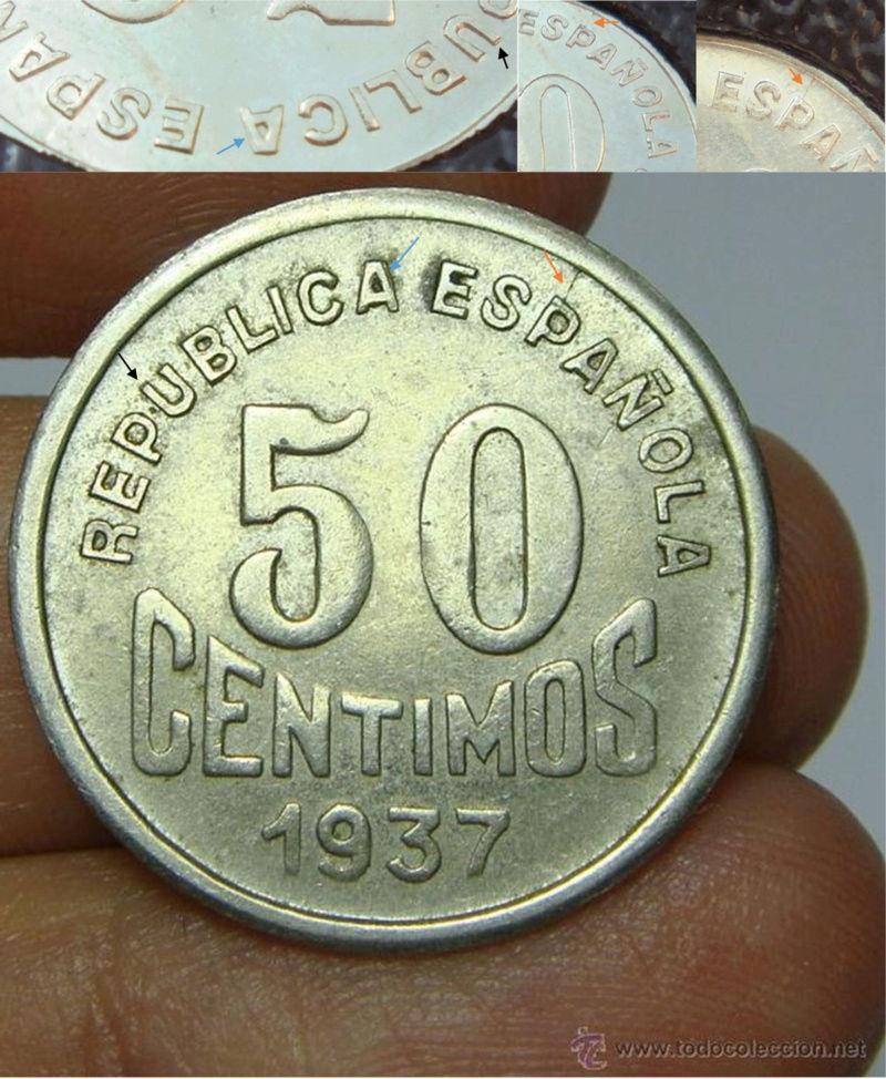 50 céntimos 1937. Consejo de Asturias y León. Guerra Civil S10