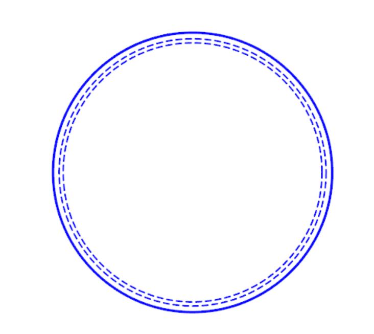 découpe cercle pointillé flex Cercle10