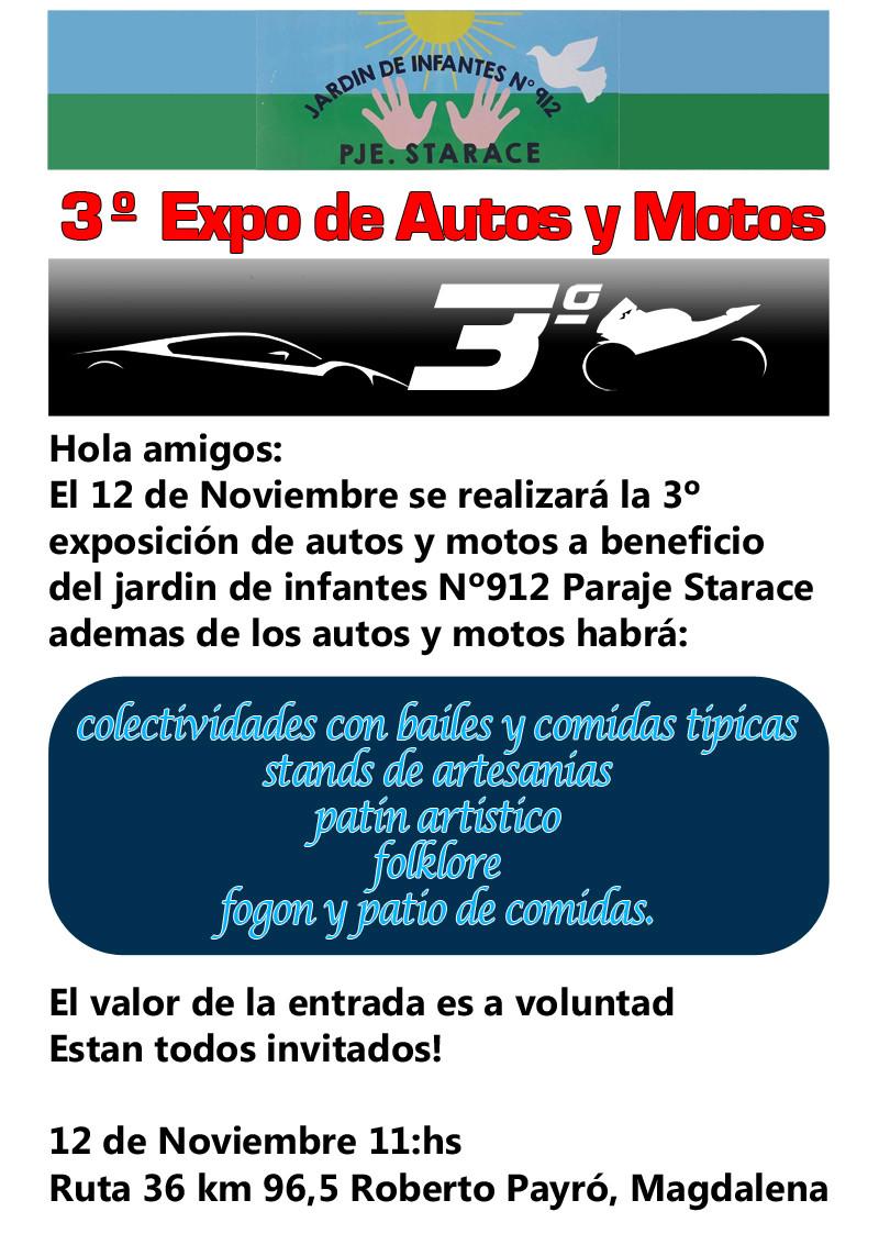 """Domingo 12 de Noviembre """"3° EXPO DE AUTOS Y MOTOS""""  Expo_j10"""