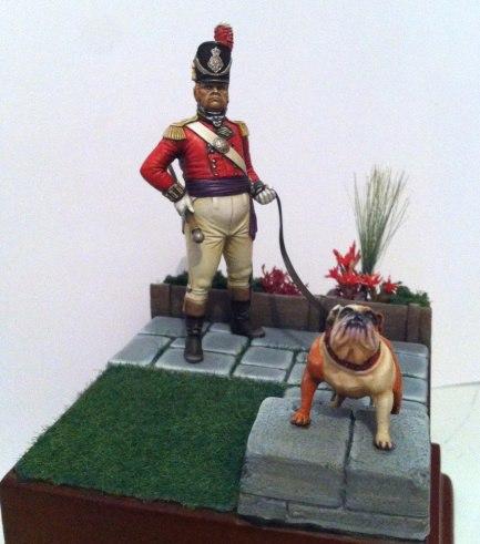 Officeir Britannique avec chien 13312610