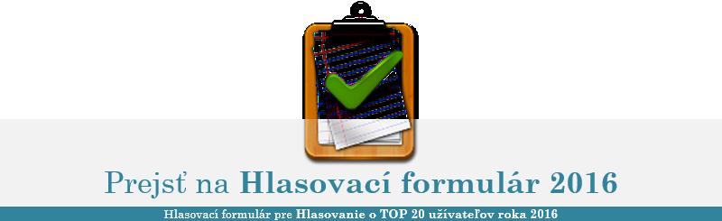 TOP 20 užívateľov roka 2016 (Informačná téma) Cestia10