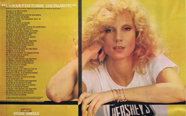 Discographie N° 78 L'AMOUR C'EST COMME UNE CIGARETTE 19810711