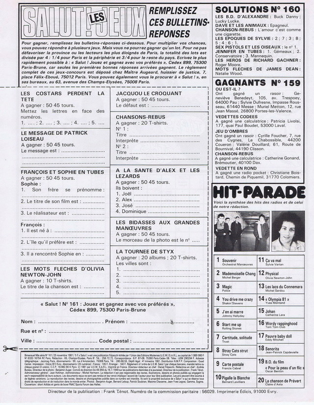 Discographie N° 79 ORIENT EXPRESS - Page 3 19811118
