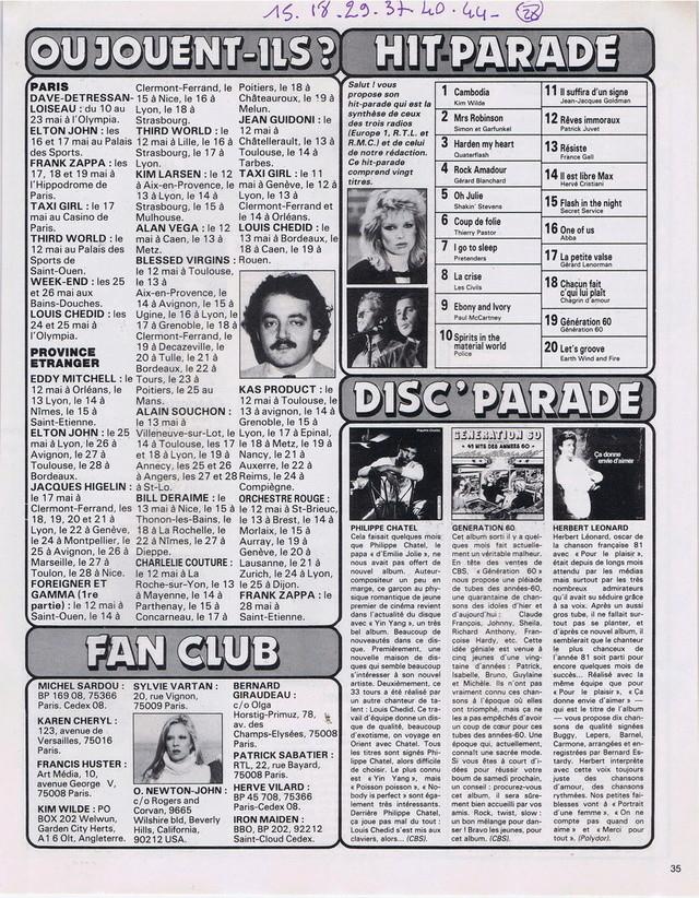 Discographie N° 80 LA SORTIE DE SECOURS - Page 3 19820511