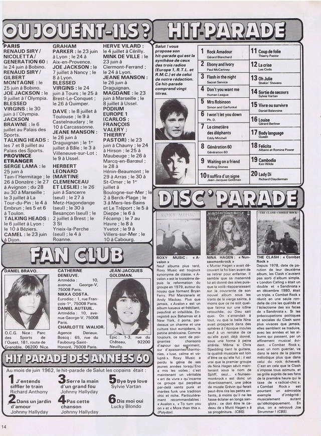 Discographie N° 80 LA SORTIE DE SECOURS - Page 3 19820610