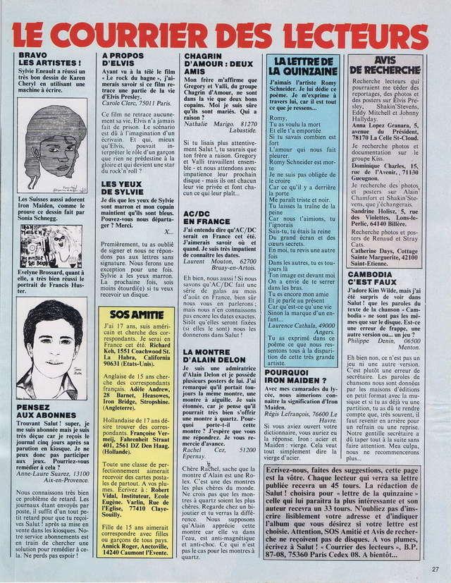 Discographie N° 80 LA SORTIE DE SECOURS - Page 3 19820612