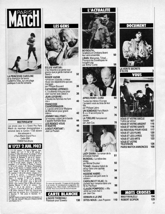 Discographie N° 80 LA SORTIE DE SECOURS - Page 3 19820711