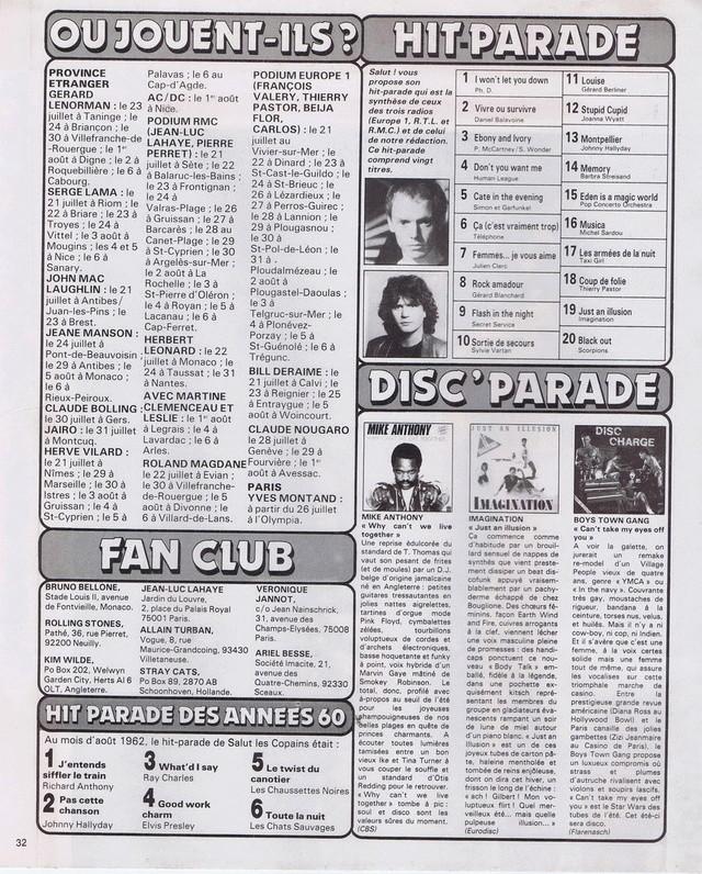 Discographie N° 80 LA SORTIE DE SECOURS - Page 3 19820718